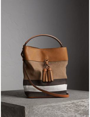 Burberry The Medium Ashby in Canvas Check and Leather $950 thestylecure.com