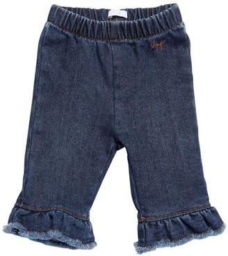 Il Gufo Denim Effect Stretch Cotton Sweatpants