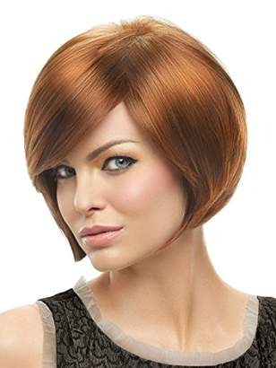 Hairdo. by Jessica Simpson & Ken Paves Layered Bob Color R6/30H Wigs Soft Side Swept Bang Tru2Life Heat Friendly Synthetic Volume Sleek Curves