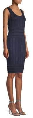 St. John Gossamer Illusion Knit Bodycon Dress