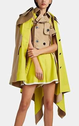 Sacai Women's Asymmetric Trench Cape - Yellow