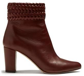 Altuzarra Ghianda Block Heeled Ankle Boots - Womens - Burgundy