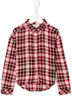 Zadig & Voltaire Kids checkered long sleeve shirt