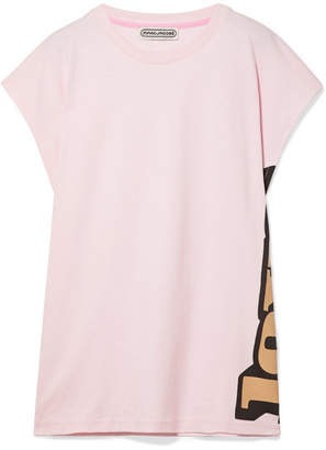 Marc Jacobs Printed Cotton-jersey T-shirt - Pastel pink