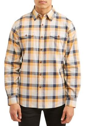 Lee Men's Long Sleeve Plaid Poplin Woven, Available up to size 2XL