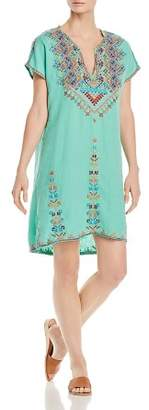 Johnny Was Velsia Embroidered Tunic Dress