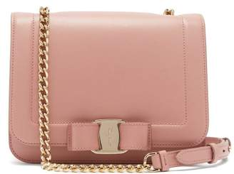 Salvatore Ferragamo Vara Leather Cross Body Bag - Womens - Light Pink