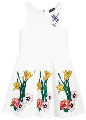 Hannah Banana Applique Fit & Flare Dress