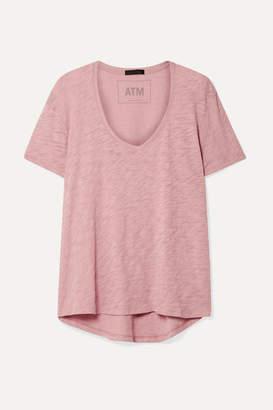 ATM Anthony Thomas Melillo Boyfriend Slub Cotton-jersey T-shirt - Pink
