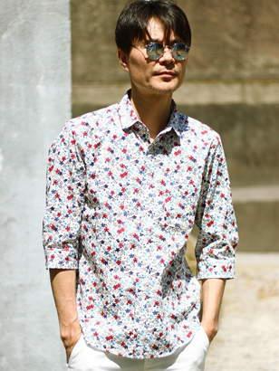 Men's Bigi (メンズ ビギ) - MEN'S BIGI フラワープリントシャツ(花柄)/7分袖 メンズ ビギ シャツ/ブラウス