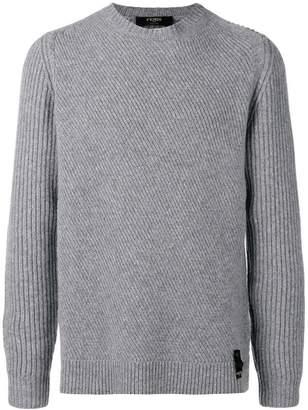 Fendi ribbed knit crewneck sweater