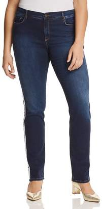 Marina Rinaldi Ibisco Racing Stripe Jeans