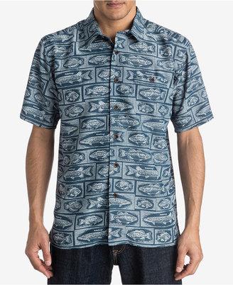 Quiksilver Men's Fish-Print Shirt $60 thestylecure.com