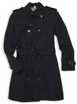 Burberry Little& Girl's Mayfair Cotton Trench