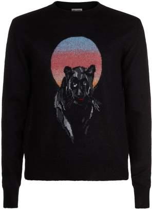 Saint Laurent Panther Motif Sweater