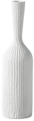 Torre & Tagus Zoro Carved Line Resin Floor 24In Vase