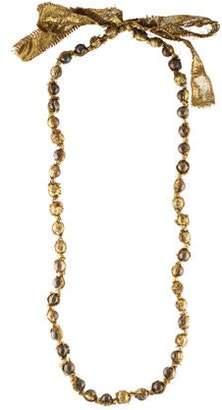 Lanvin Tinsel Ribbon & Bead Necklace