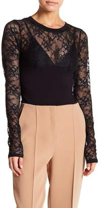 KENDALL + KYLIE Kendall & Kylie Long Sleeve Lace Bodysuit