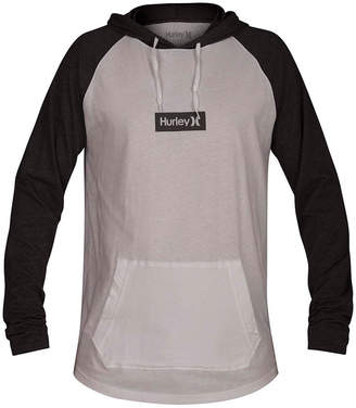 Hurley Men One And Only Box Logo Graphic Hooded T-Shirt