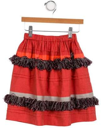 Tia Cibani Girls' Fringe-Trimmed A-Line Skirt w/ Tags