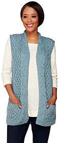 Kilronan Merino Wool Open Front Vest withPockets