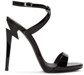 Giuseppe Zanotti Black Patent Alien Sandals