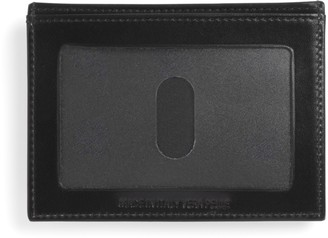 Brooks Brothers French Calf Card Case with Magnetic Clip