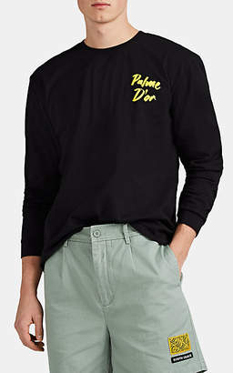 """Double Rainbouu Men's """"Palme D'Or"""" Cotton T-Shirt - Black"""