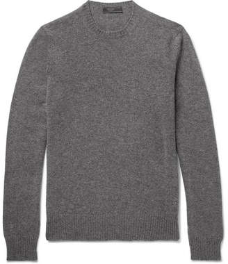 Prada Slim-Fit Mélange Cashmere Sweater
