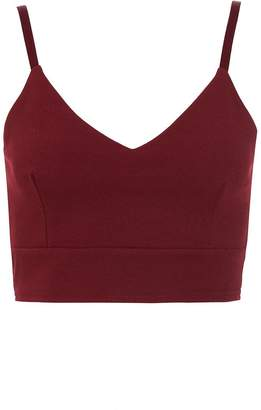 Quiz Berry Strappy Crop Top