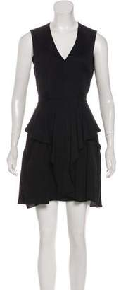 L'Agence Ruffled Mini Dress