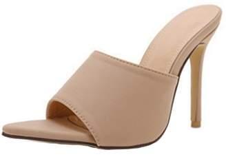 Goodnight Macaroon 'Venchy' Beige Open Toe High Heeled Sandals