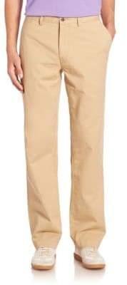 Ralph Lauren Straight-Leg Flat-Front Pants
