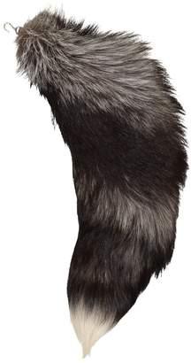 Alexander McQueen Grey Fur Bag charms