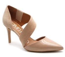 Calvin Klein Pointed-Toe Leather D'Orsay Pumps