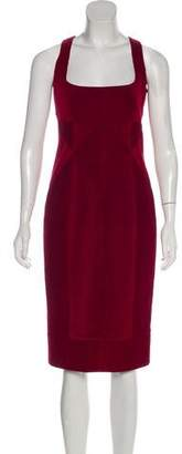DSQUARED2 Quilted Square Neck Midi Dress
