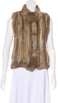 Haute Hippie Fur Knit Vest