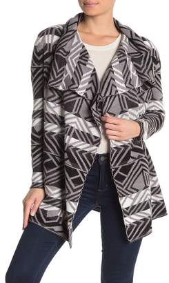 Cable & Gauge Long Sleeve Jacquard Cardigan