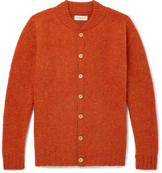 YMC Brushed-Wool Cardigan - Orange