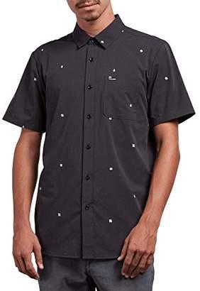 Volcom Men's Dragstone Modern Fit Woven Button Up Short Sleeve