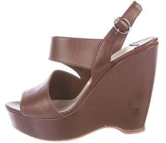 5cfc99c49 Prada Leather Wedge Sandal - ShopStyle