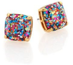 Kate Spade New York Small Square Glitter Stud Earrings $38 thestylecure.com