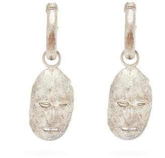 Ellery Morisco sterling-silver face earrings