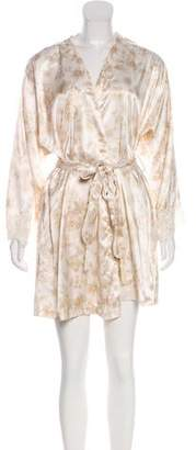 Christian Dior Floral Satin Nightgown