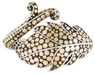 John Hardy Two-Tone Leaf Hinged Cuff Bracelet $1,295 thestylecure.com