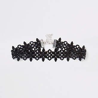 River Island Black lace embellished choker