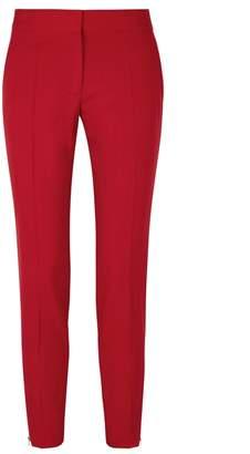 Stella McCartney Vivian Red Tapered Wool Trousers