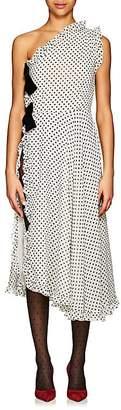 Marianna Senchina Women's Polka Dot Crepe One-Shoulder Dress