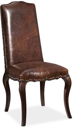 Pottery Barn Calais Leather Dining Side Chair