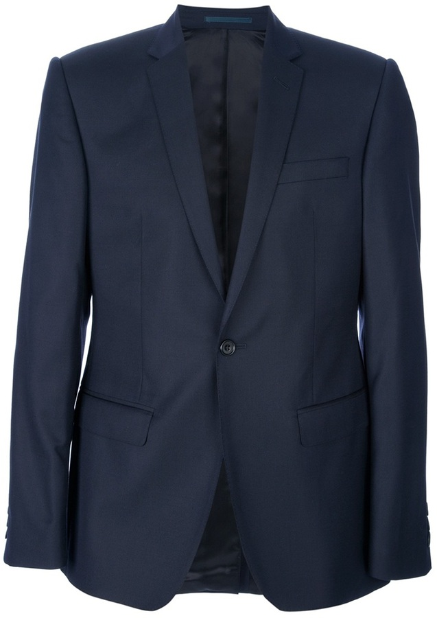 Mr Start textured wool suit
